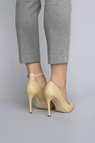 Nude PATENT Ankle Straps (WIDE)