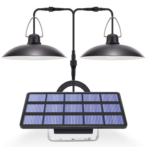 LED Solar Lights 2 Double Head Solar Lights Garden Solar Cell Lamps Cord Outdoor Indoor Lighting