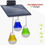 Solar Bulb Light 3pcs w/Mobile Charger