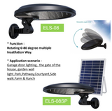 NBD-UK02C Rotatable Solar Led Motion Wall Light w/ External Solar Panel 56LEDs