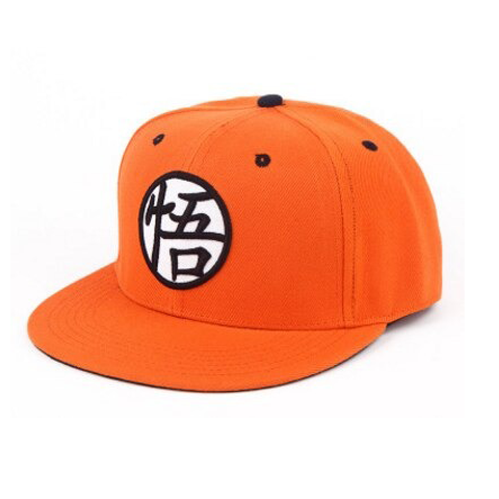 boné dragon ball caps laranja