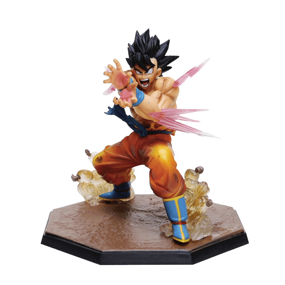 figurina dragon ball son goku kameha imagem