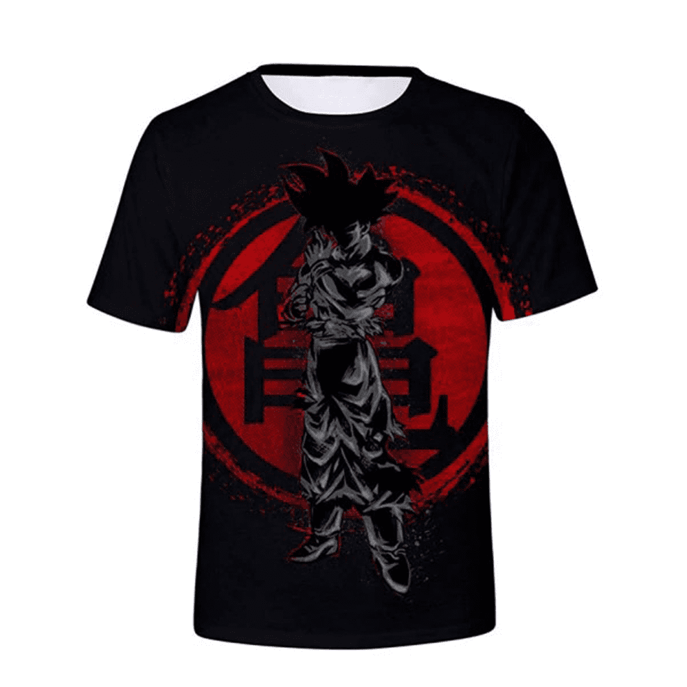 t shirt dragon ball sangoku concentrado imagem