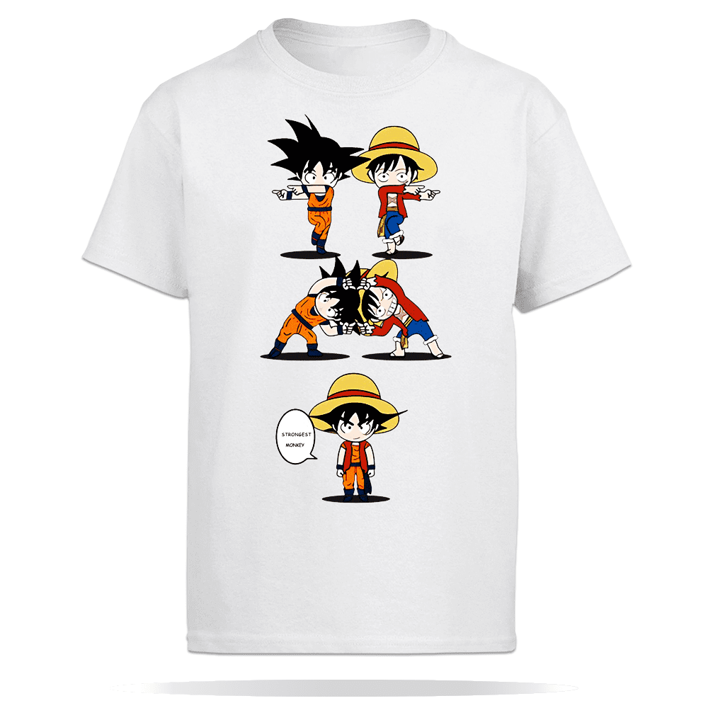 T shirt Dragon Ball Z Fusao Goku Luffy imagem