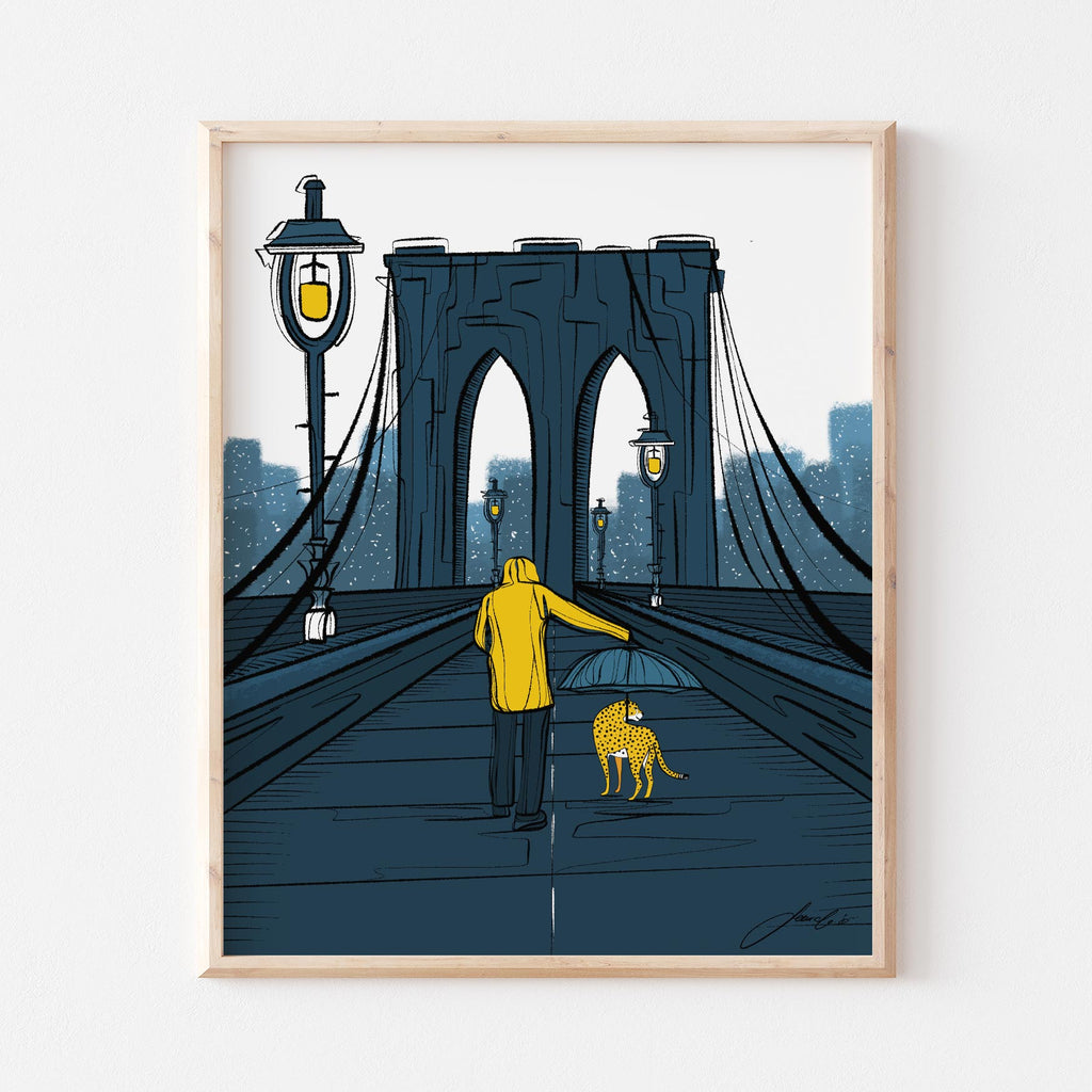 Bridge to Manhattan Art Print
