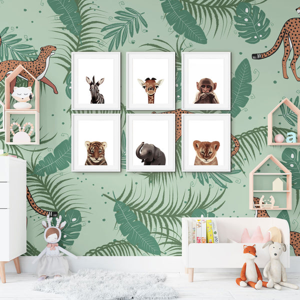 Baby Safari Animal Prints Set