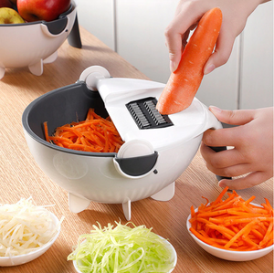 9in1 Multifunctional Veggie Cutter & Rotatable Draining Basket (New 2020)