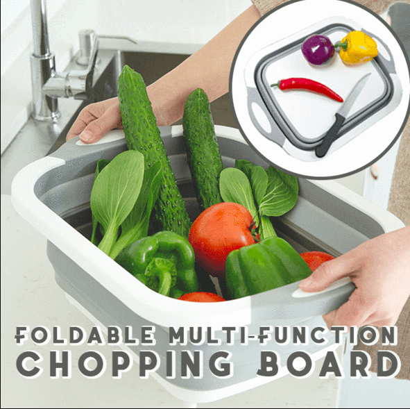 Homerri default 1 PC (50% OFF) Eco-Friendly 3in1 Multi-Function Foldable Cutting Board, Washing Bowl & Draining Fruit Basket