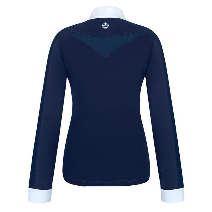 Fair Play Competition Shirt CLAIRE Pearl Long Sleeve Navy-White