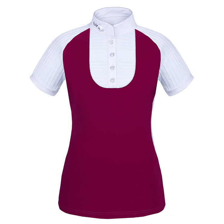 Fair Play Competition Shirt JUSTINE Burgundy-White