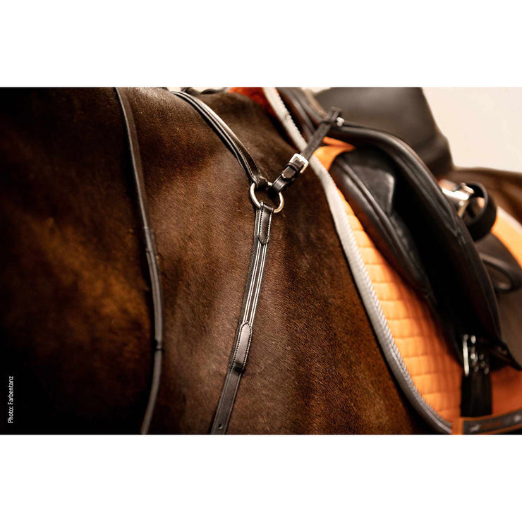 Schockemohle Pro Jump Plus Breastplate, Antique Brown/Silver