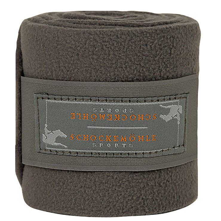 Schockemohle Fleece Bandages, Steel Gray