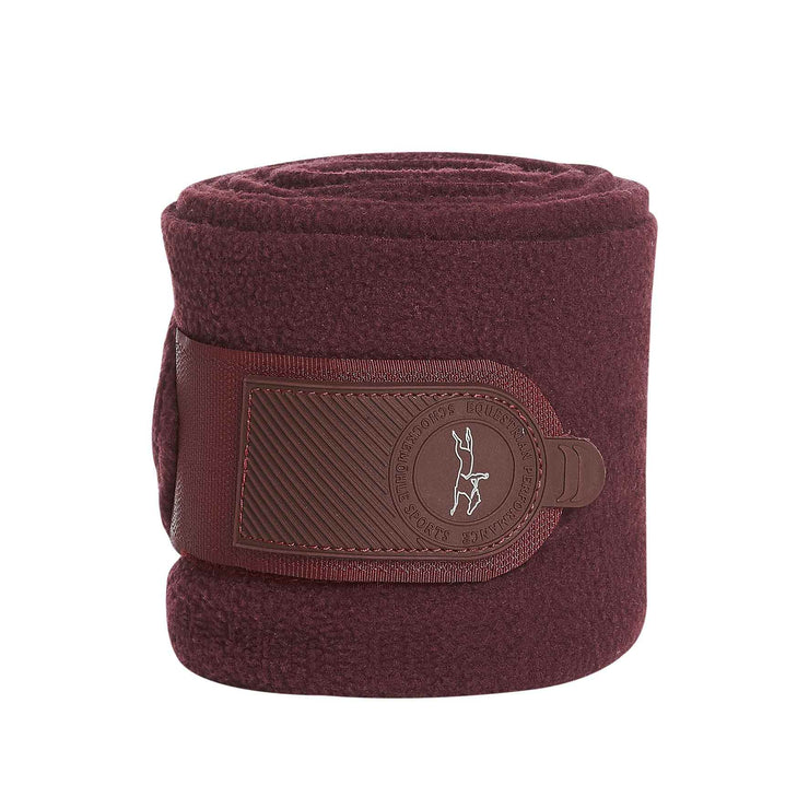 Schockemohle Fleece Bandages Style Bandagen Set, Burgundy