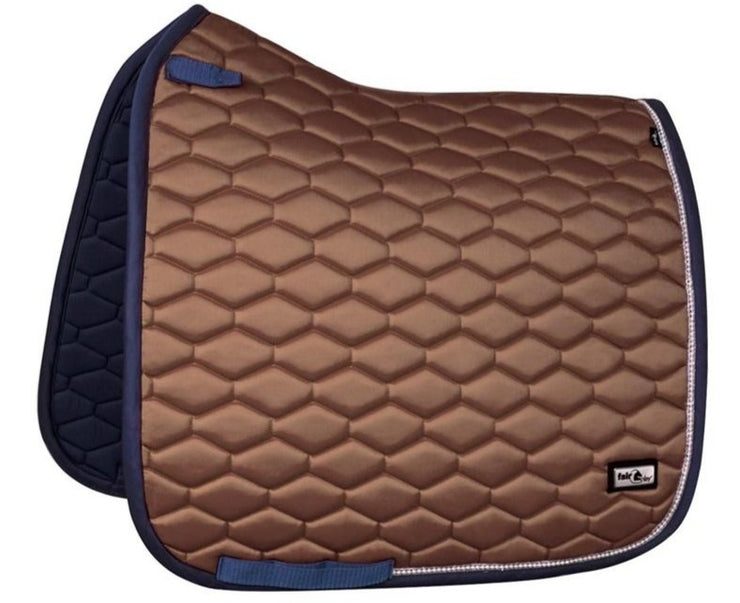 Fair Play HEXAGON PEARL Dressage Saddle Pad Taupe Full