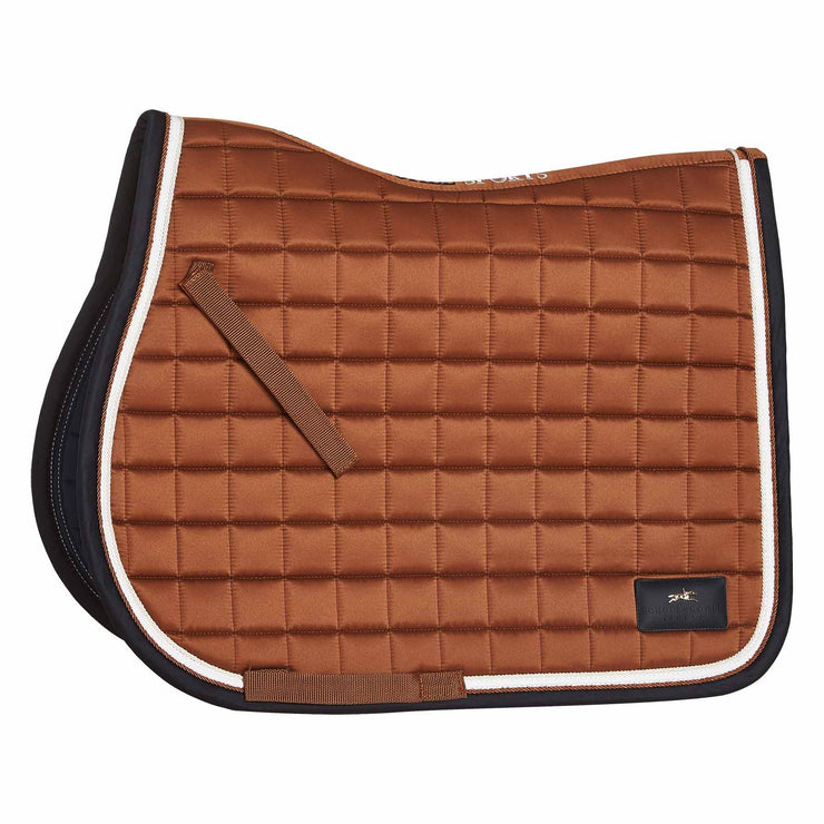 Schockemohle Spirit Pad S Jumping Saddle Pad, Amber, Full