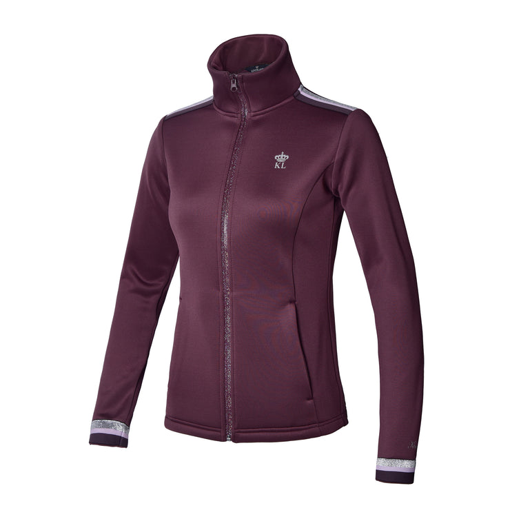 Kingsland Jemima Ladies Fleece Jacket, Red Fudge
