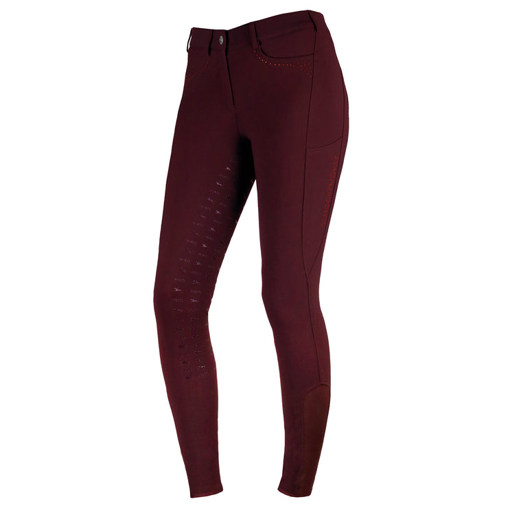Schockemohle Victory Full Seat Ladies' Breeches, Cassis