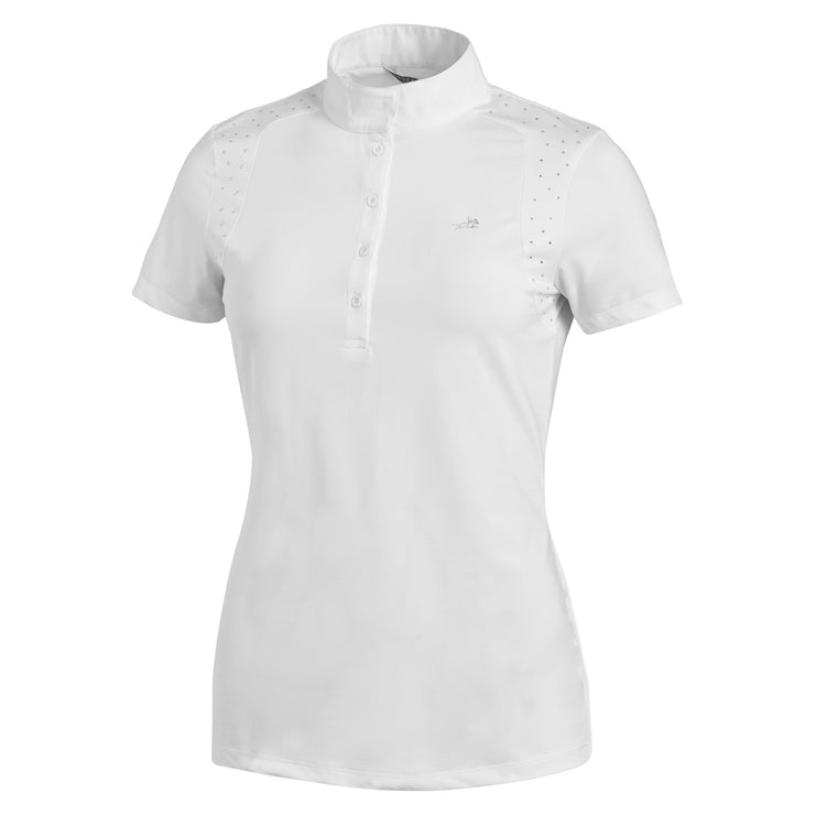 Schockemohle Meredith UV Ladies Show Shirt, White