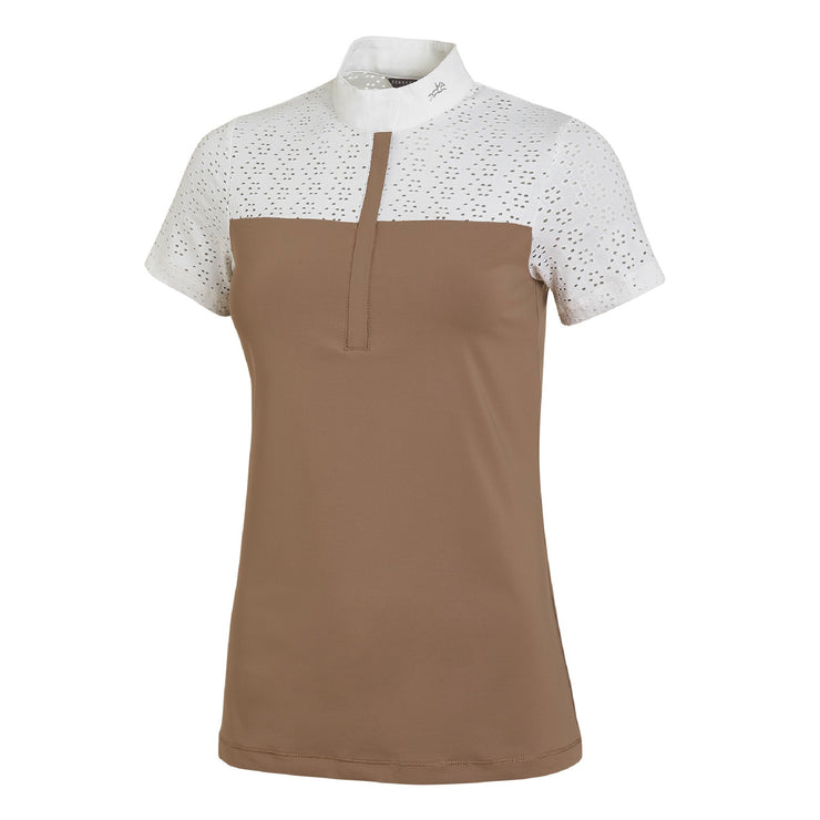 Schockemöhle New Aylin Style Ladies Show Shirt, Taupe