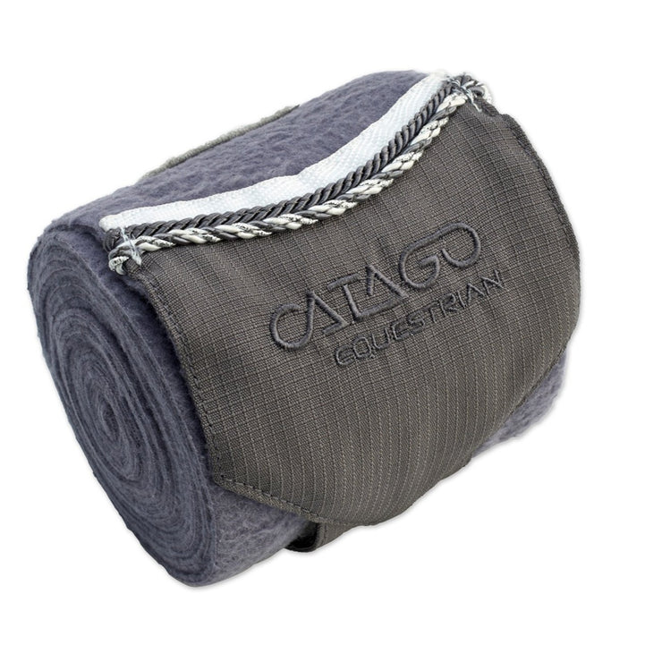 CATAGO Diamond Fleece Wraps- Set of 4, Grey