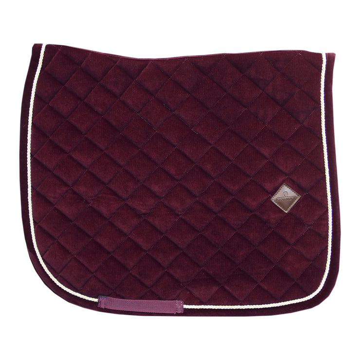 Kentucky Horsewear Saddle Pad Corduroy Dressage Bordeaux Edition Full