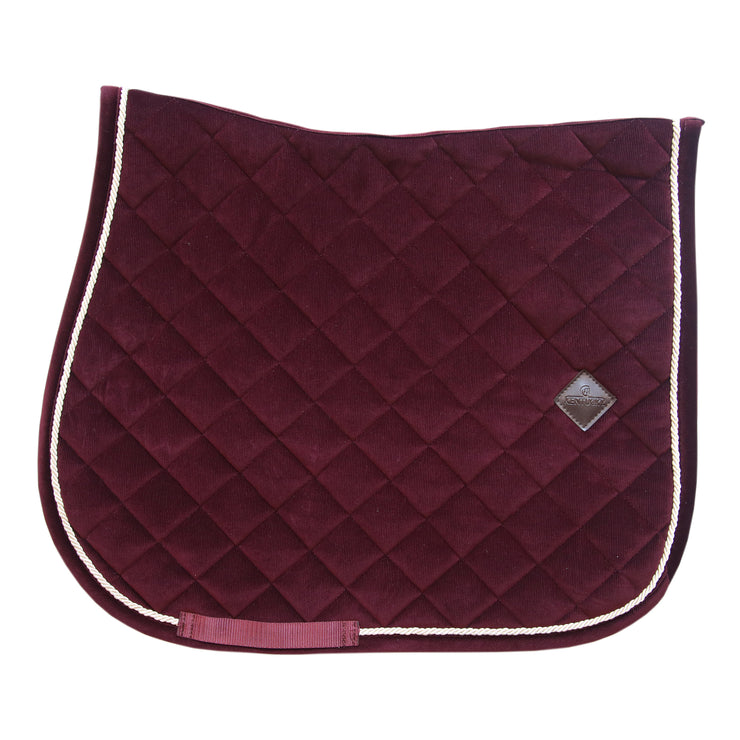Kentucky Horsewear Saddle Pad Corduroy Jumping Bordeaux Edition Full