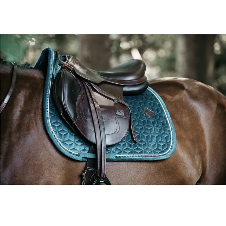 Kentucky Horsewear Saddle Pad Velvet Jumping Emerald Edition Full