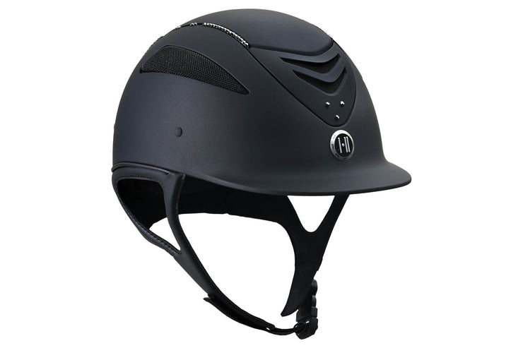 One K™ Defender Helmet with Swarovski Stones, Black w/ Black Stones