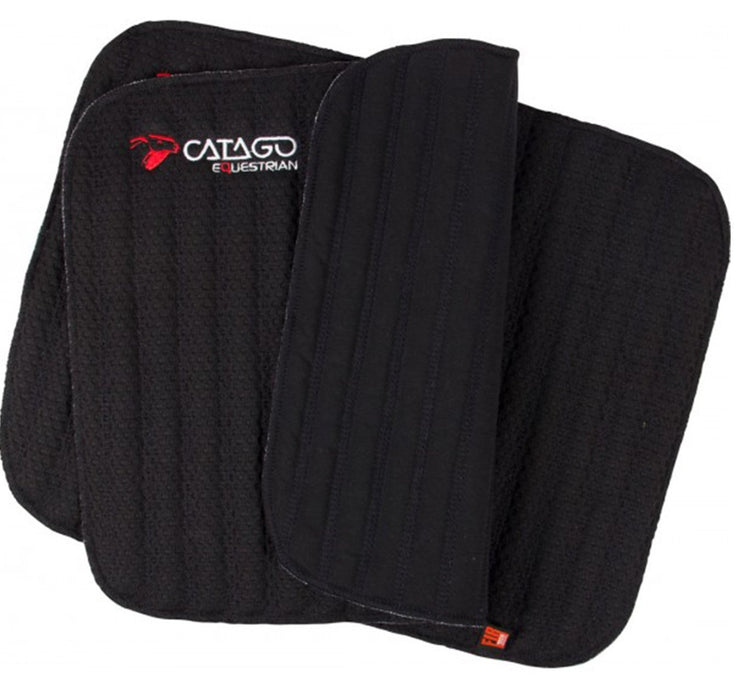 CATAGO FIR-Tech Healing Leg Wraps- 16x12, Black