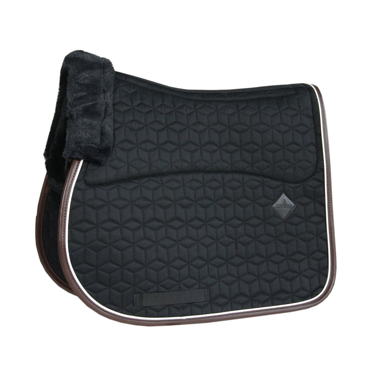 Kentucky Horsewear Skin Friendly Saddle Pad Jumping Star Quilting Black