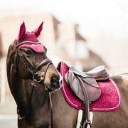 Kentucky Horsewear Saddle Pad Velvet Jumping Fuscia Edition Full