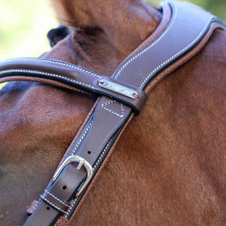 Jump'In ONE New York Bridle with Reins, Hazelnut