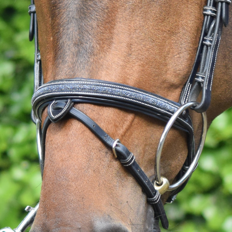 Jump'In Crystal Bridle with Reins, Black
