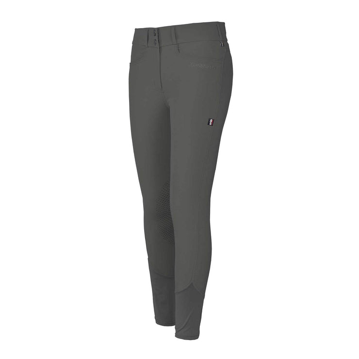 Kingsland Kadi E-TEC Knee Grip Breeches, Grey Pinstripe