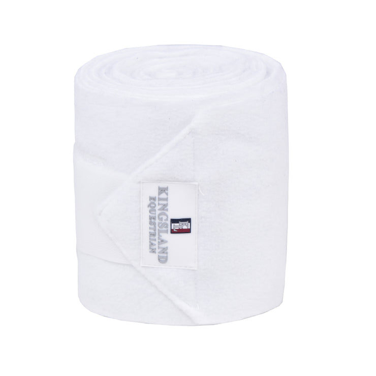 Kingsland Classic Fleece Bandages FL 2 Pack, White