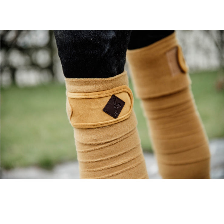 Kentucky Horsewear Polar Fleece Bandages Velvet, Mustard