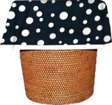 Navy Polka Dot DesignerLiners® Decorative Waste Basket Bags and Liners, 12-PK