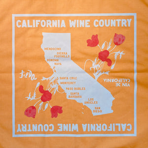 Wine Country Bandana by Vin de California in Gold