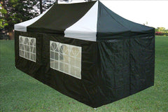 E Model 10'x20' Black White - Pop Up Tent