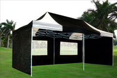 F Model 10'x20' Black White - Pop Up Tent Pro