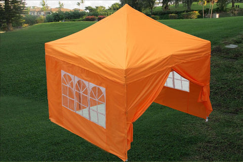 E Model 10'x10' Orange - Pop Up Tent