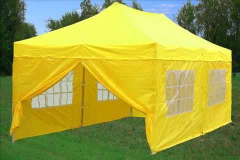E Model 10'x20' Yellow - Pop Up Tent