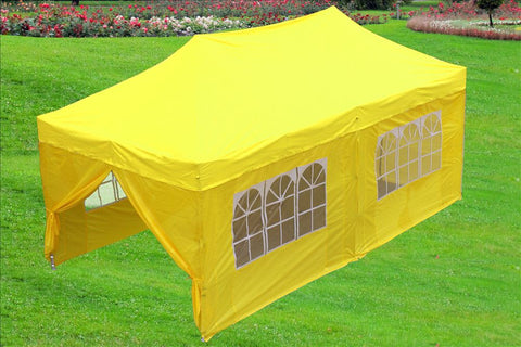 F Model 10'x20' Yellow - Pop Up Tent Pro