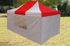 E Model 10'x15' Red White - Pop Up Tent