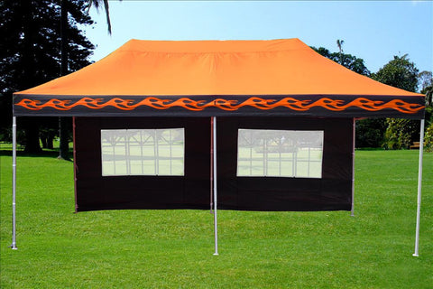 F Model 10'x20' Orange Flame - Pop Up Tent Pro