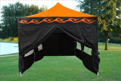E Model 10'x20' Orange Flame - Pop Up Tent