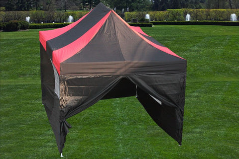 E Model 10'x15' Black Red - Pop Up Tent