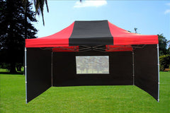 F Model 10'x15' Black Red - Pop Up Tent  Pro