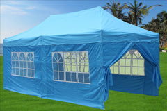 E Model 10'x20' Sky Blue - Pop Up Tent