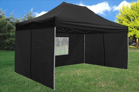 F Model 10'x15' Black - Pop Up Tent  Pro